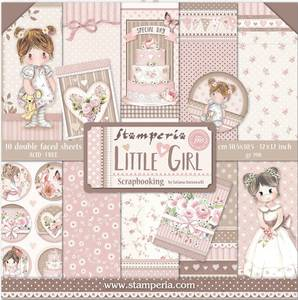 Bilde av Stamperia - 12x12 Paper Pack - 67 - Little Girl