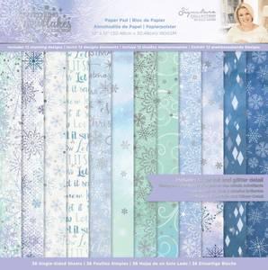 Bilde av Crafter's Companion - Paper Pad 12x12 - Glittering Snowflakes