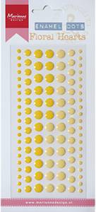 Bilde av Marianne Design - PL4516 - Enamel dots - Floral hearts