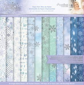 Bilde av Crafter's Companion - Paper Pad 6x6 - Glittering Snowflakes