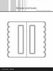 Bilde av Simple and basic - Dies - SBD006 - Pierced Bag Topper Scallop