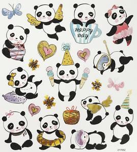 Bilde av Creotime - Stickers - 27196 - Pandaer