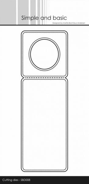 Simple and basic - Dies - SBD008 - Pierced Bottle Label
