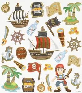 Bilde av Creotime - Stickers - 27199 - Pirater
