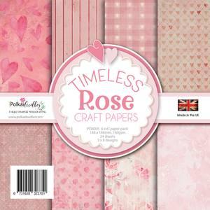 Bilde av Polkadoodles - 6x6 Paper Pack - Timeless Rose