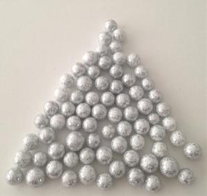 Bilde av Snø kuler - små - Sølv med glitter