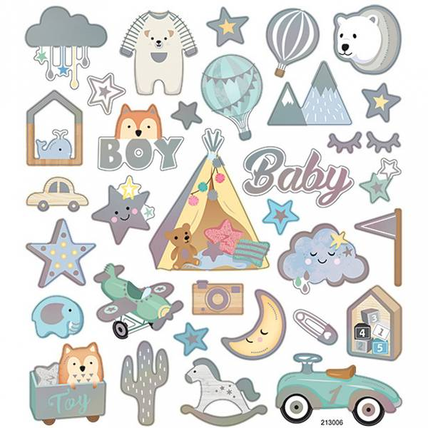 Creotime - Stickers - 28883 - Baby gutt
