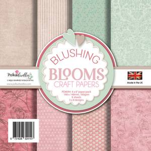 Bilde av Polkadoodles - 6x6 Paper Pack - Blushing Blooms