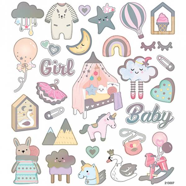 Creotime - Stickers - 28884 - Baby jente