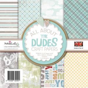 Bilde av Polkadoodles - 6x6 Paper Pack - All About The Dudes