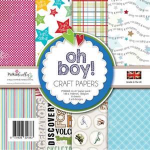 Bilde av Polkadoodles - 6x6 Paper Pack - Oh Boy!