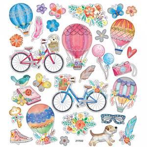 Bilde av Creotime - Stickers - 29076 - Sykkel og luftballong