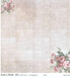 Bilde av Kort & Godt - Mønsterpapir 106682 - Avis med roser 1142