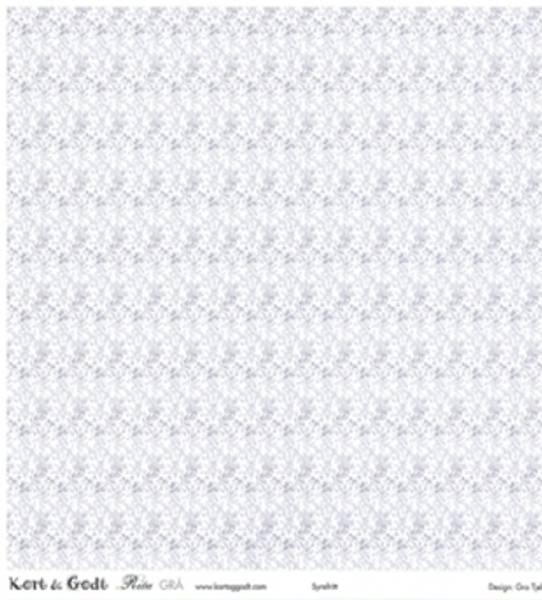 Kort & Godt - Mønsterpapir 106681 - Rita grå 1159