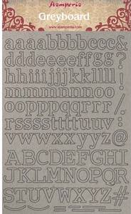 Bilde av Stamperia - Greyboard - A4 - 02 - Alphabet