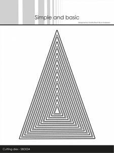 Bilde av Simple and basic - Dies - SBD034 - Double pierced triangle