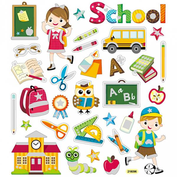 Creotime - Stickers - 29176 - Skole