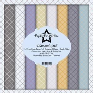 Bilde av Paper Favourites - 6x6 Paper Pad - PF168 - Diamond Grid
