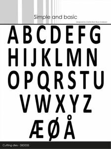 Bilde av Simple and basic - Dies - SBD035 - Alphabet - big letters
