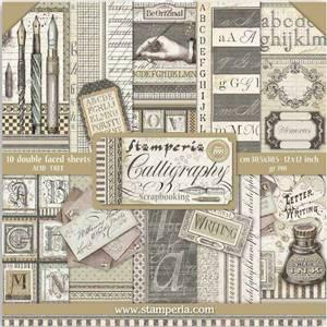 Bilde av Stamperia - 12x12 Paper Pack - 79 - Calligraphy