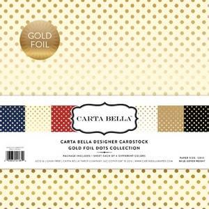 Bilde av Carta Bella - Gold Foil Dots - 12x12 Paper Collection