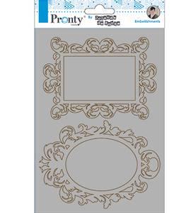 Bilde av Pronty Crafts - Chipboard - A5 - Barok Frames