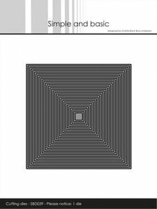 Bilde av Simple and basic - Dies - SBD039 - Thin Frames - Square (1 die)