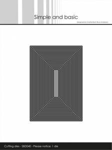 Bilde av Simple and basic - Dies - SBD040 - Thin Frames - Rectangle (1die