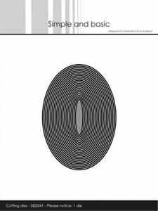 Bilde av Simple and basic - Dies - SBD041 - Thin Frames - Oval (1 die)