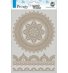 Bilde av Pronty Crafts - Chipboard - A5 - Mandala & Borders 2