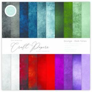 Bilde av Craft Consortium - 6x6 - Essential Paper Pad - Grunge Dark Tones