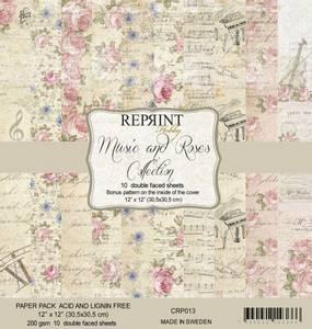 Bilde av Reprint - 12x12 - CRP013 - Music & Roses Collection Pack