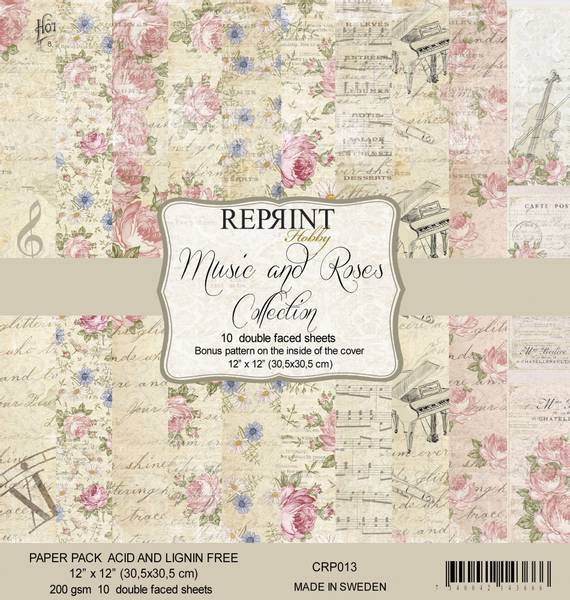 Reprint - 12x12 - CRP013 - Music & Roses Collection Pack