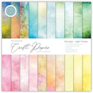 Bilde av Craft Consortium - 6x6 - Essential Paper Pad - Grunge Light Tone