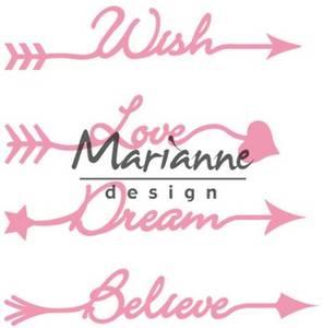 Bilde av Marianne Design - Collectable dies - COL1458 - Arrow sentiments