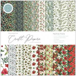 Bilde av Craft Consortium - 12x12 - Essential Paper Pad - Festive Flora