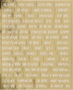 Bilde av Creotime - Stickers - 24791 - Words - Gold foil & White