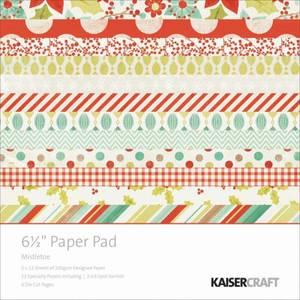Bilde av Kaisercraft - PP945 - 6,5x6,5 - PAPER PAD - MISTLETOE
