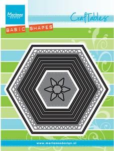 Bilde av Marianne Design - Craftables dies - CR1444 - Basic set - Hexagon