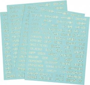 Bilde av Creotime - Stickers - 24792 - Words - Turquoise & Gold foil