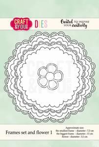 Bilde av Craft & You - Dies - CW041 - Frames set and flower 1