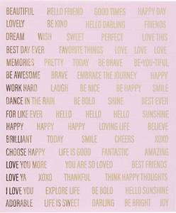 Bilde av Creotime - Stickers - 24793 - Words - Pink & Gold foil