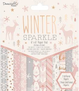 Bilde av Dovecraft - 6x6 Paper Pad - Winter Sparkle