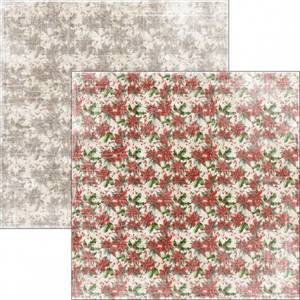 Bilde av Reprint - 12x12 - RP0295 - Christmas Time - Poinsettia