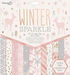 Bilde av Dovecraft - 12x12 Paper Pad - Winter Sparkle