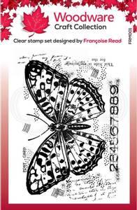 Bilde av Woodware - FRM001 - Clear stamp - Butterfly