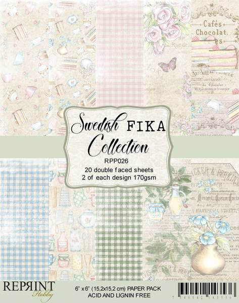 Reprint - 6x6 - RPP026 - Swedish Fika Collection Pack