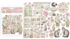 Bilde av Stamperia - Chipboard Die Cuts - 26 - Orchids and Cats
