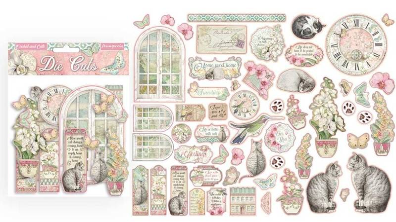 Stamperia - Chipboard Die Cuts - 26 - Orchids and Cats