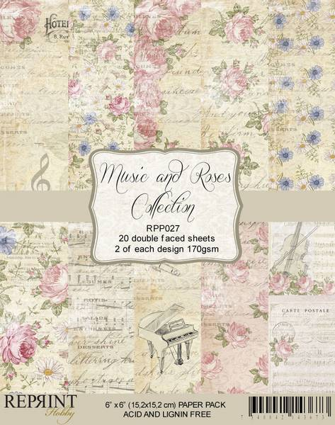 Reprint - 6x6 - RPP027 - Music & Roses Collection Pack